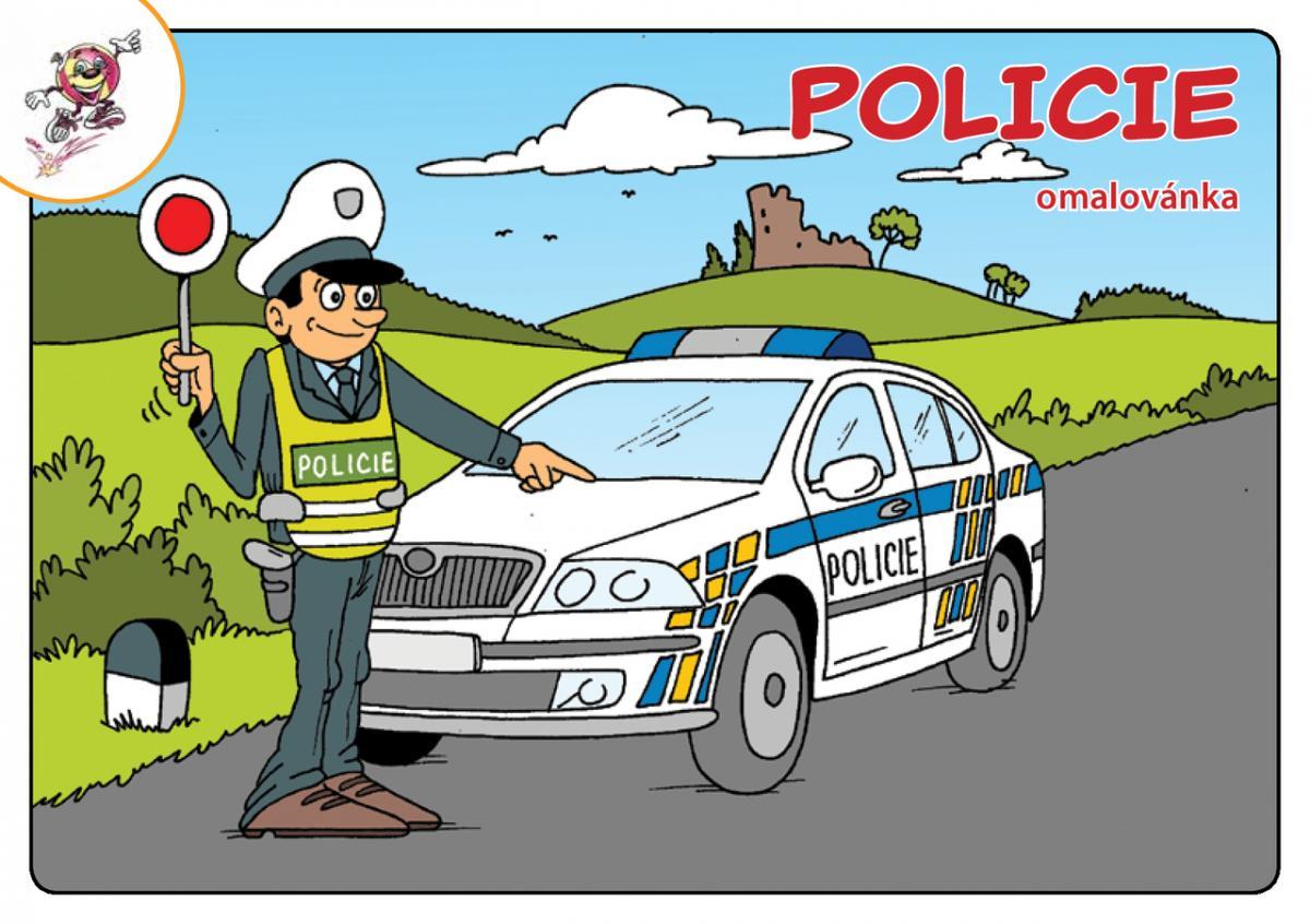 Omalovanky Policie Mirek Vostry