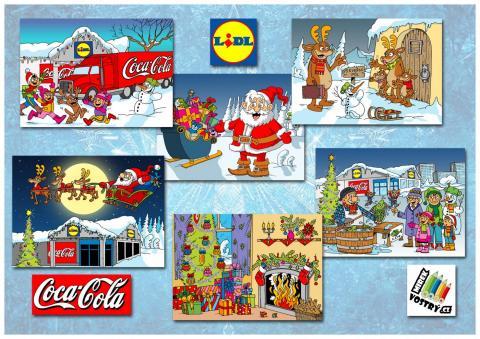 Omalovánky Coca-cola + Lidl